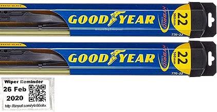 Hybrid - Windshield Wiper Blade Bundle - 3 Items: Driver & Passenger Blades & Reminder Sticker fits 2006-2009 Porsche Cayman