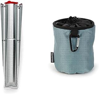 Brabantia Socle Séchoir Jardin avec Bouchon Rouge 45 mm & 105784 Premium Sac pour Pinces à Linge Noir/Bleu/Mint - Coloris ...