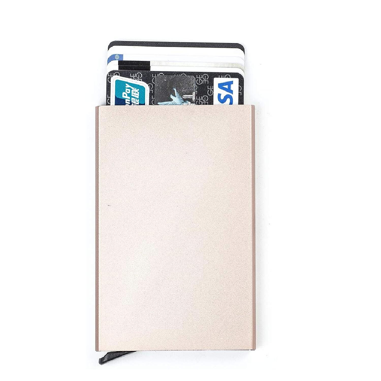 TRIWONDER カードケース スキミング 磁気 防止 クレジットカードケース スライド式 アルミニウム 薄型 軽量 Credit Card Case Holder