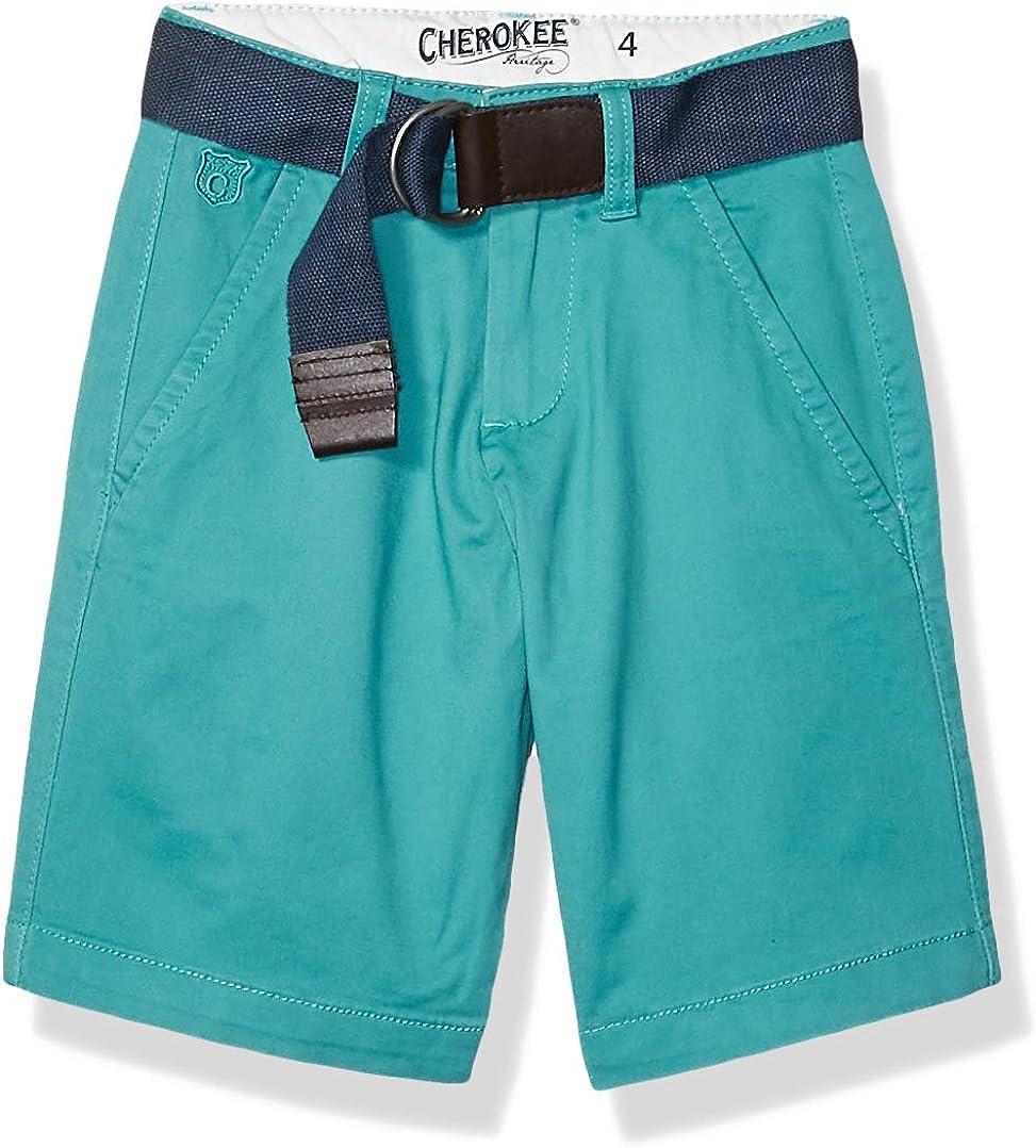 Cherokee Boys' Belted Chino Shorts