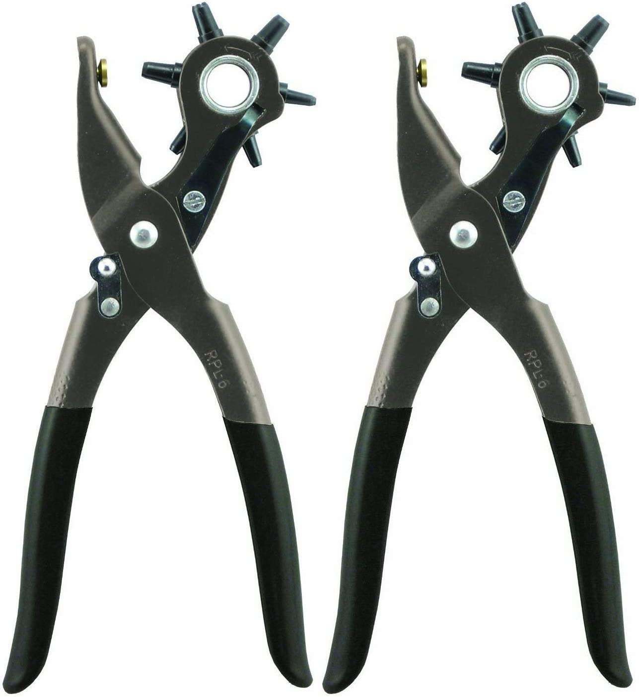 General Tools 72 Leather Hole Punch Tool, 5/64 Inch to 3/16 Inch - Hand Tool Arch Punches -