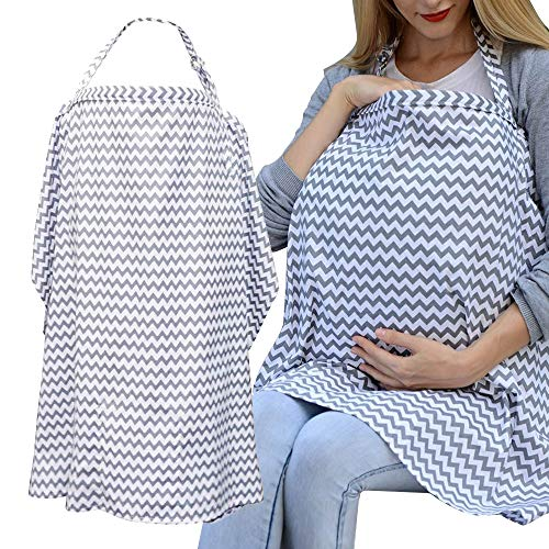 Auranso Breastfeeding Cover Infinity Nursing Cover Scarf with Pockets,...