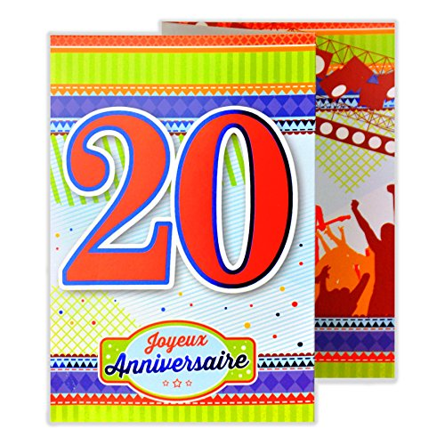 Afie 882130 Carte 3 Volets Joyeux Anniversaire 35 Ans Cartes Postales Fournitures De Bureau