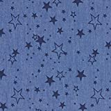 Fabulous Fabrics Jeansstoff Chambray Sterne – Jeansblau