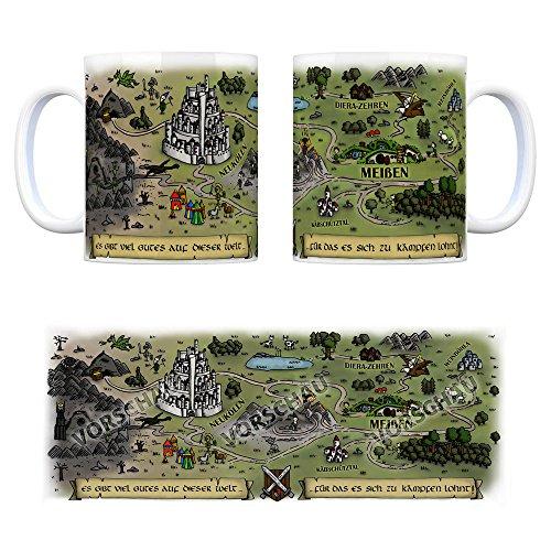 trendaffe - Meißen Sachsen Fantasy Kaffeebecher - eine Tasse als Geschenk zum Geburtstag für alle die Rollenspiele lieben!