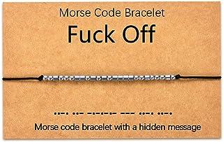 Tarsus Fuck Off Morse Code Bracelets Dainty Jewelry Gifts for Women Men Best Friend