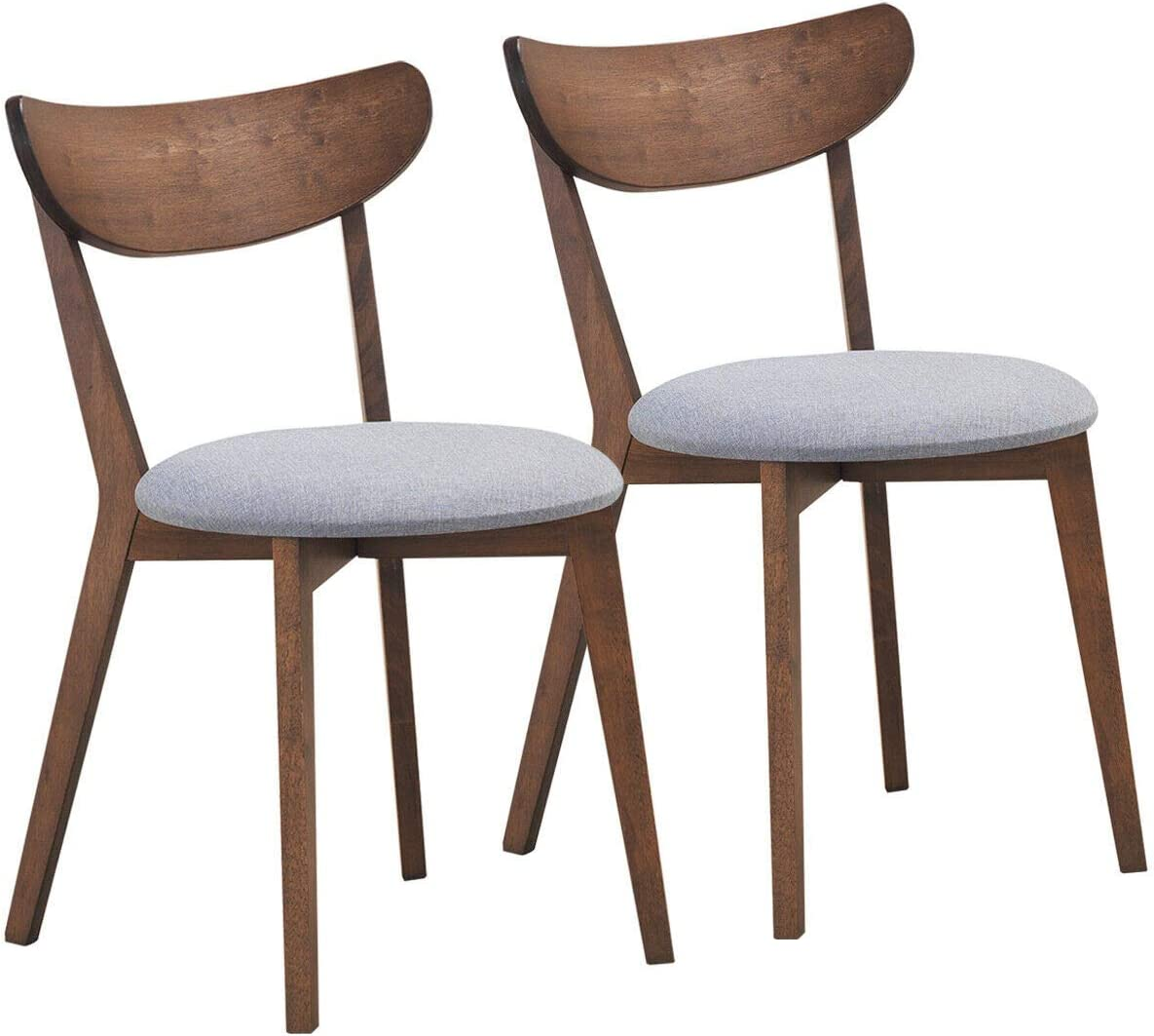 COSTWAY Set of 67% OFF of fixed price 2 Dining Side w Chairs Mid-Century Today's only