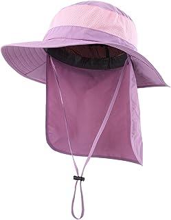 878a7b0f30e8e3 Home Prefer Outdoor UPF50+ Mesh Sun Hat Wide Brim Fishing Hat with Neck Flap