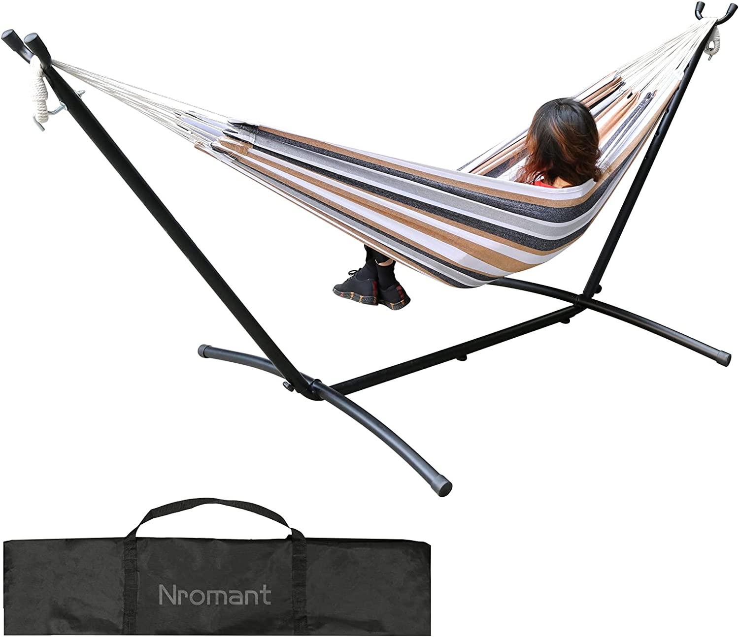 Double Hammock with Space Outlet sale feature Saving Steel lb Stand 450 Capacity - Free Shipping Cheap Bargain Gift