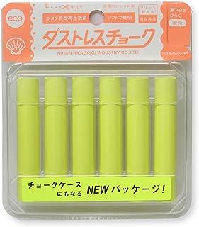 日本理化学 ダストレス蛍光チョーク 黄 6本 DCK-6-Y