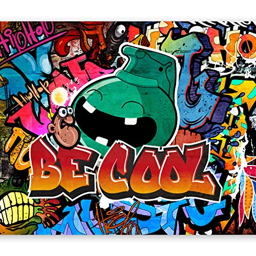 murando Fototapete Graffiti 350x256 cm Vlies Tapeten Wandtapete XXL Moderne Wanddeko Design Wand Dekoration Wohnzimmer Schlafzimmer Büro Flur bunt m-A-0741-a-a
