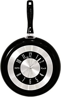 Shatchi Clock Frying Pan Creative Gifts Kitchen Stylish Wall Hangings Unique Gifts Home