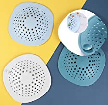 Drain Hair Catcher, 3 PACK Durable Shower Drain Covers With Suction Cup, Easy to Install and Clean, TPR Drain Stopper for ...