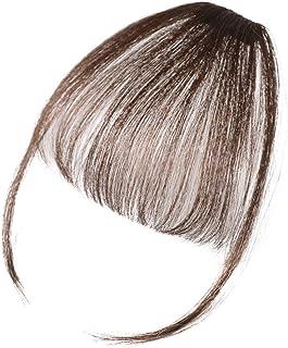 AISIHAIR 前髪ウィッグ レディース 超薄型 総手植え エクステ ウィッグ クリップ 耐熱型 サイドあり 清新感 空気感 軽く 小顔効果 ふんわり