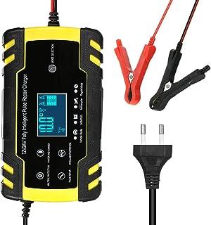 comprar comparacion KKmoon Cargador Bateria Coche 12V 8A /24V 4A Mantenimiento Automático Inteligente con Múltiples Protecciones para Coche Mo...