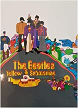 The Beatles - Rock Band in calamita (Yellow Submarine Group Shot) 9 x 6,7 cm