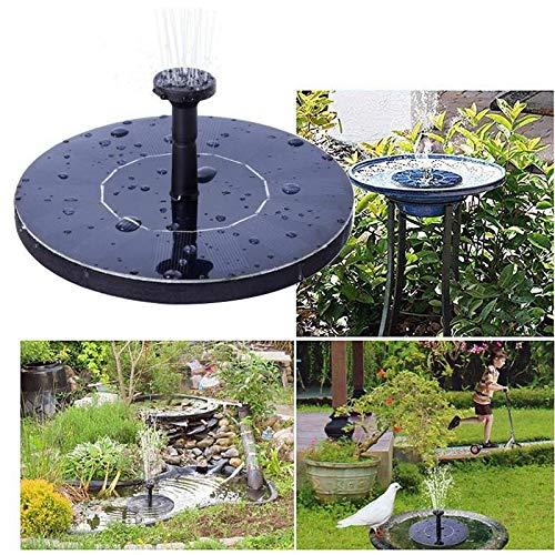 Jf Nuovo Round Fontana di galleggiamento Solare Bird Bath Fontana Fontaine for la Decorazione del Giardino Solare Fonteine Stagno Cascata