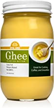 Keto Friendly Grass Fed Ghee Clarified Butter From Grass-Fed Cows - Paleo, Ayurvedic, Gluten-Free, and Non-GMO - Made in USA (Glass Jar)