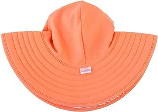 Little Girls UPF 50+ Sun Protective Wide Brim Swimswear Sun Hat