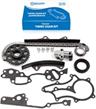 ECCPP TTK-114-HD Timing Chain Kit Tensioner Guide Rails Cam Sprocket Crank Sprocket Water Pump Replacement for 1987 1988 1989 Toyota 4Runner 1990 Toyota Pickup 1985 Toyota Celica
