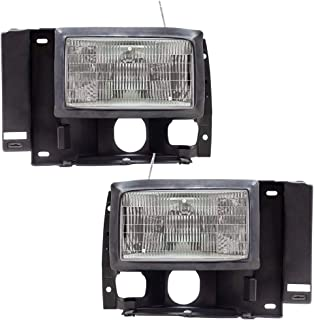 Driver and Passenger Headlights Replacement for 1989-1992 Ranger Pickup F1TZ13008D F1TZ13008C
