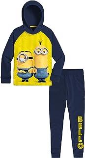 Universal Studios Despicable Me Minions Fleece Sweatshirt & Joggers Boys Activewear Bundle Set (Yellow/Blue, Size 7)