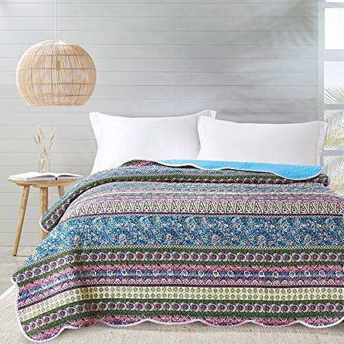 Alicemall - Colcha de verano para cama individual con diseñ