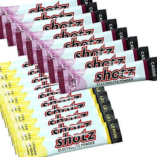 shotz ショッツ エレクトロライトパウダー 40本セット(カシス×20、レモン×20)【マラソン大会/トレイルランニング/ロードバイク/トレーニング/スポーツ/栄養補給/エネルギー】