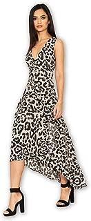 AX Paris Women's Leopard Print Frill Midi Dress