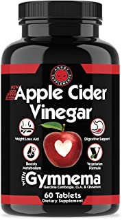 Apple Cider Vinegar Pills for Weight Loss - ACV Natural Detox Remedy Includes Gymnema, Cinnamon, CLAS, and Garcinia for Co...