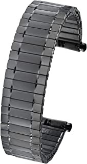 Alpine Stainless Steel Stretch Watch Band, Flexible Expansion Replacement Strap, fits 18-20 mm, Squeeze Ends fits 18 – 20 mm