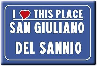 Souvenir I Love CB VAR. Black Enjoymagnets San GIULIANO del SANNIO CALAMITA Magnete Molise