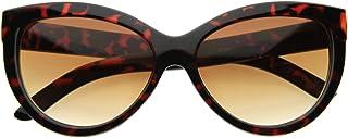 High Temple Bold Retro Womens Mod Updated Cat Eye Sunglasses (Tortoise Amber)