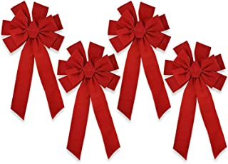 Gift Boutique Red Velvet Christmas Bows Large 23