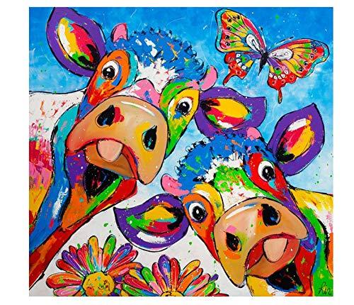 Kit De Pintura De Diamantes 5D, Graffiti De Animales, Perro, Vaca, Calle, Taladro Completo, Pintura De Bordado De Diamantes, Bordado De Bricolaje, Pintura De Punto De Cruz Para La Decoración De La Pa
