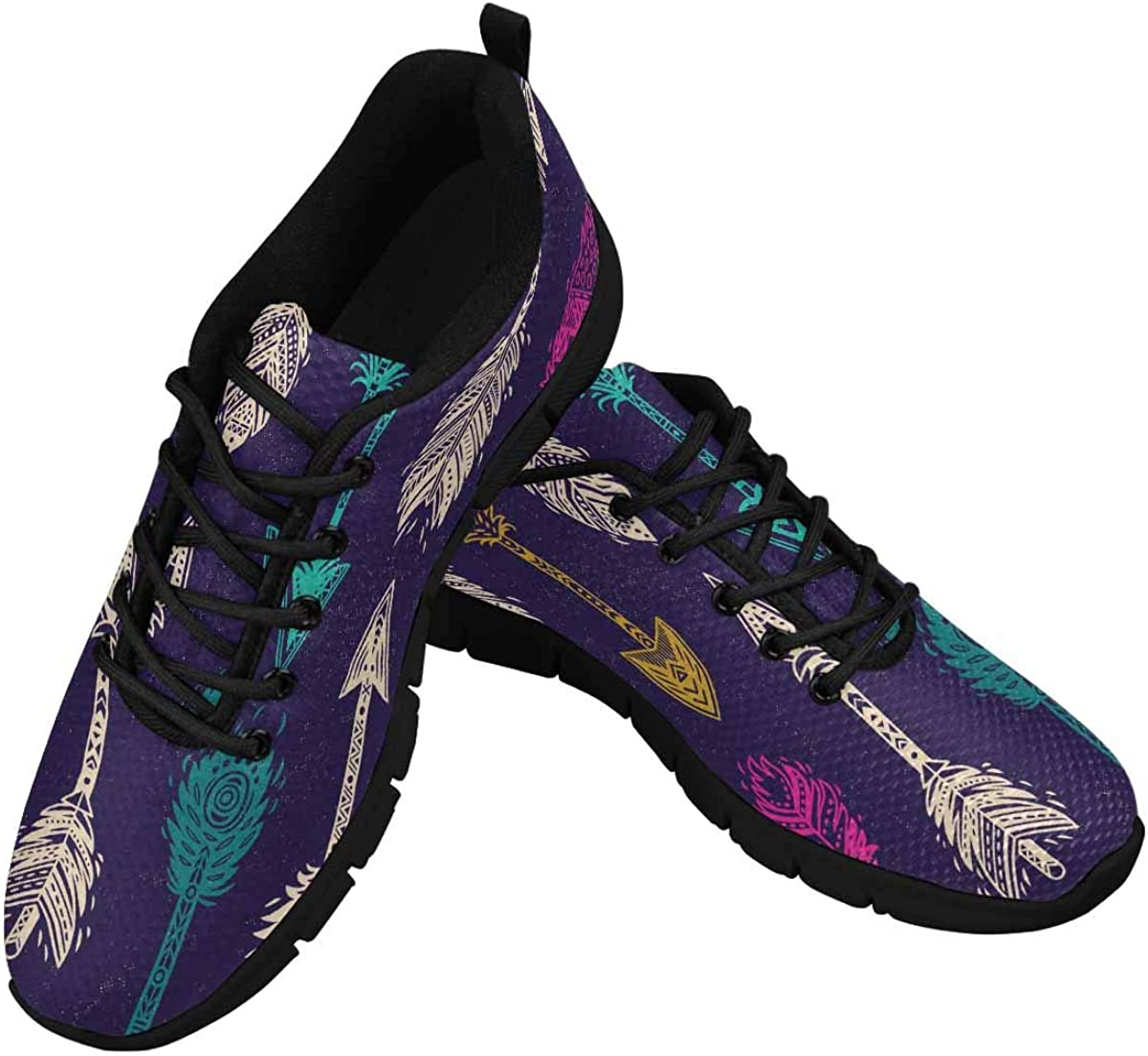 InterestPrint Colourful Arrows Women's Athletic Walking Running Sneakers Comfortable Lightweight Shoes