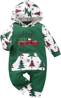 الرضع طفل بنين بنات عيد الميلاد دير إلكتروني مطبوعة هوديي رومبير بذلة الملابس البدلة (Color : Green, Size : 70)