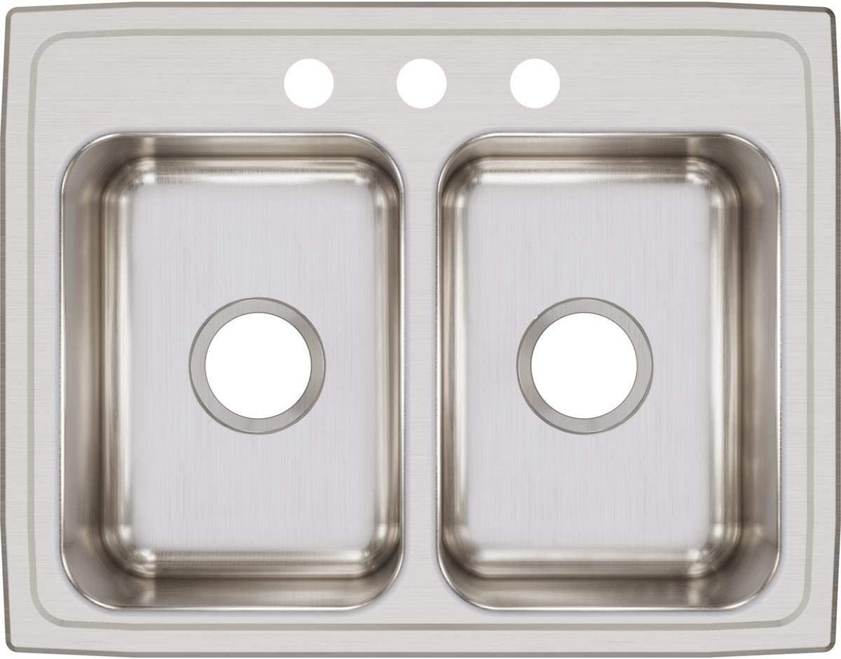 Elkay 2021 new Safety and trust LR25193 Lustertone Classic Equal Bowl Double Stainless Ste