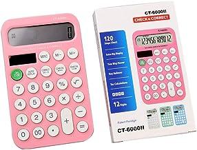 $21 » Basic Calculator Creative Candy Color Mini Calculator Calculator, Standard Functional Desktop Calculator Battery Power Ele...