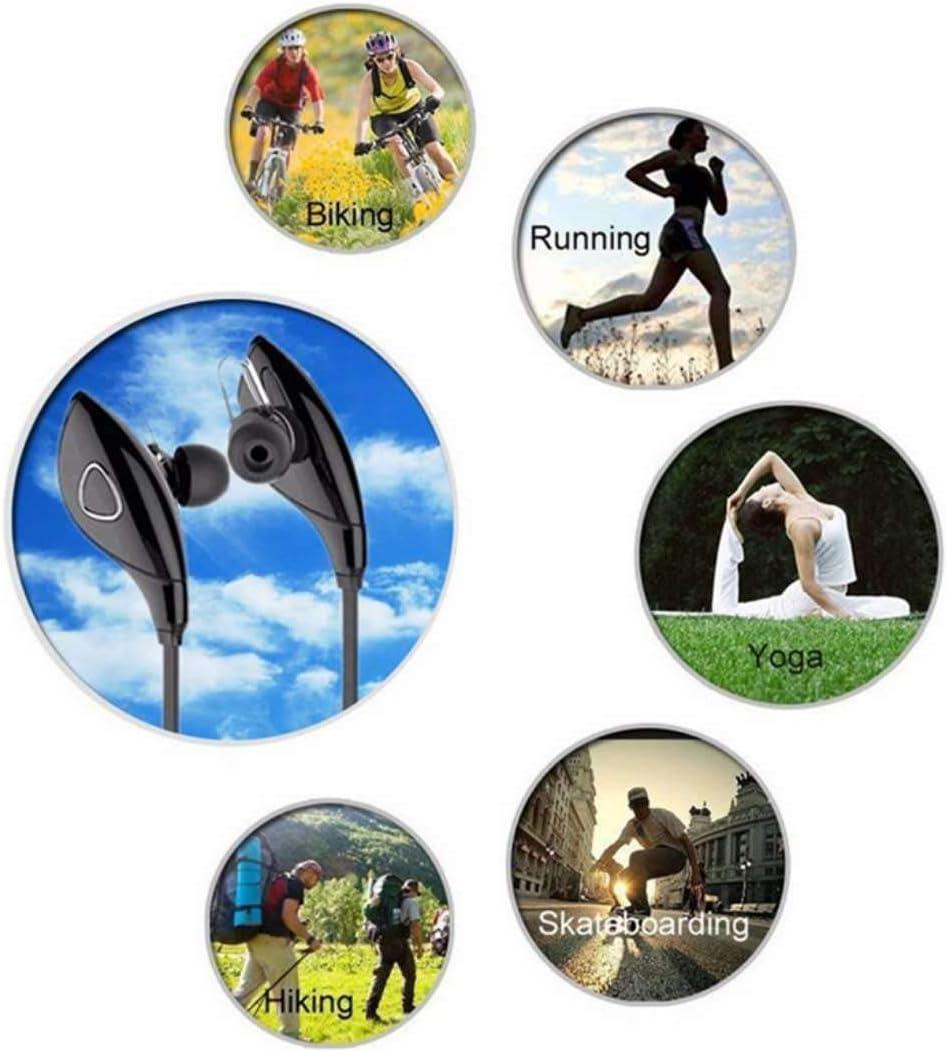 Alician 4.1 Bluetooth Earphone Earloop Earbuds Stereo Bluetooth Headset Wireless Sport Earpiece Handsfree black blue