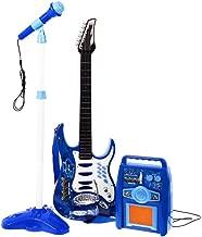 Rock Guitarra con Cuerdas de Acero, Amplificadores, Soporte Ajustable y Micrófono - Guitarra Rock para Niños - Guitarra Infantil - Rock Guitarra - Guitarra para Juguetes Instrumento Musical Infantil