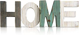 La Maia Home Signs | Farmhouse Rustic Home Décor |Pine Wood| Decorative Wooden Letters Shelf Wall for Living Room Bedroom Kitchen Fireplace Table Top Nursery