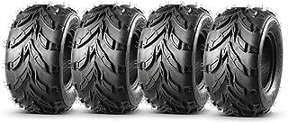 Set of 4 MaxAuto ATV Go-Karts 16x8-7 16x8x7 Tires, 4 Ply Rating, Tubeless