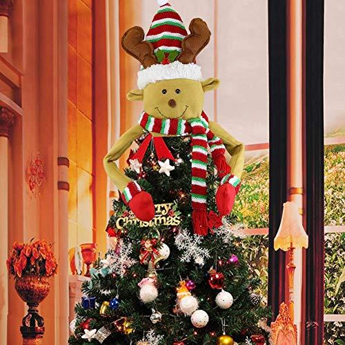 Sayala Weihnachtsbaum Topper Schneemann Top Dekoration für Weihnachtsbaum Ornament für Weihnachten Neujahr Weihnachtsbaum Top Dekoration (Elf)