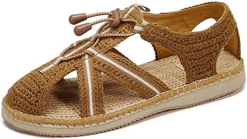 Des Sandales Pas Cherchaussures De Chanvre Faites Main Chaussures De Moine Au Crochet Chaussures Baotou Chaussures Luohan Moines Chaussures Lay, 42