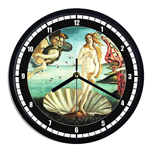 Reloj de pared de plástico Sandro Botticelli–nacimiento de Venus