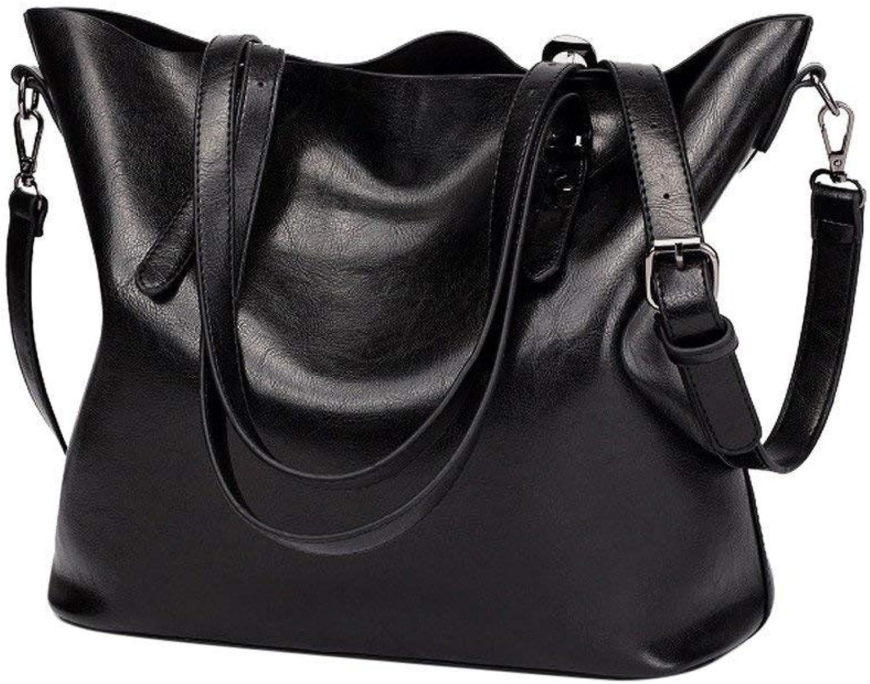 2bfe70d22c5f5 Qiusa Mode Damen Retro Crossbody Tasche Schultertasche Handtasche  Handtasche Handtasche Bucket Bag Tote Bag (Farbe Schwarz) B07MF1YMQ4  Professionelles ...