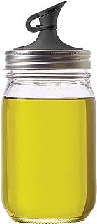 Jarware 82649 Plastic Regular Mouth Jars, Black Oil Cruet