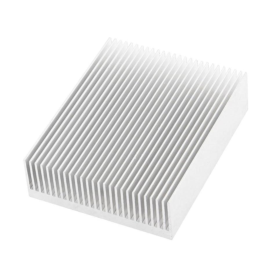 Uxcell a14111400ux0236 Silver Tone Aluminium Radiator Heatsink Heat Sink 150x80x27mm