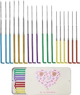 18 Pieces 6 Colors Needle Felting Needles, Needle Felting Tool Kit Wool Triangular Felting Needles with Iron Box for Wool Felting 36 Gauge, 38 Gauge, 40gauge